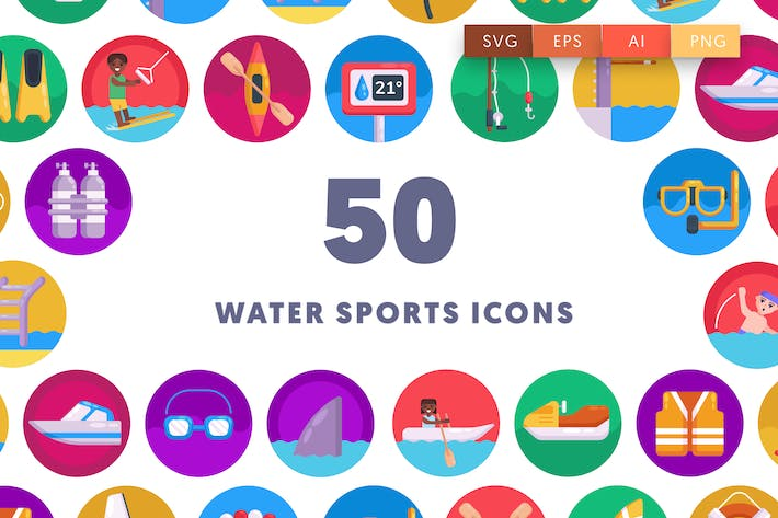 Thumbnail for 50 Wassersport-SIcons