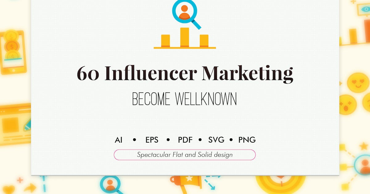 Download 60 Influencer marketing elements by Chanut_industries