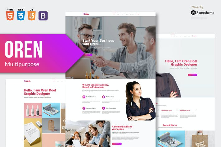 Thumbnail for OREN - Responsive Multi-purpose HTML Template