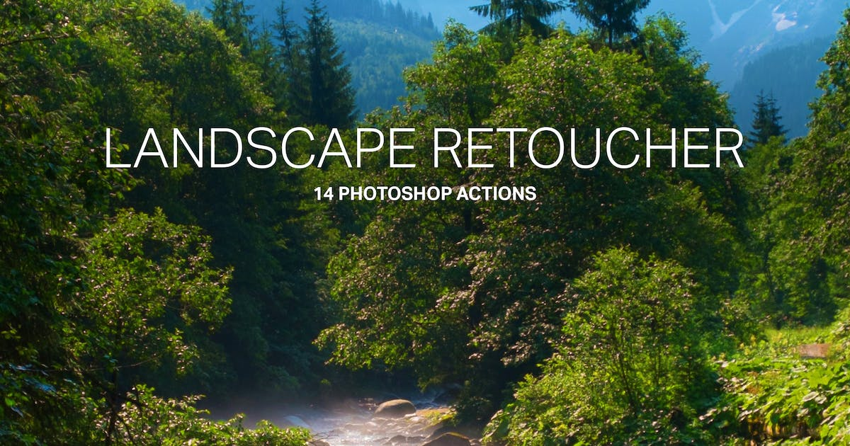 Download 14 Landscape Retouching Actions by sparklestock