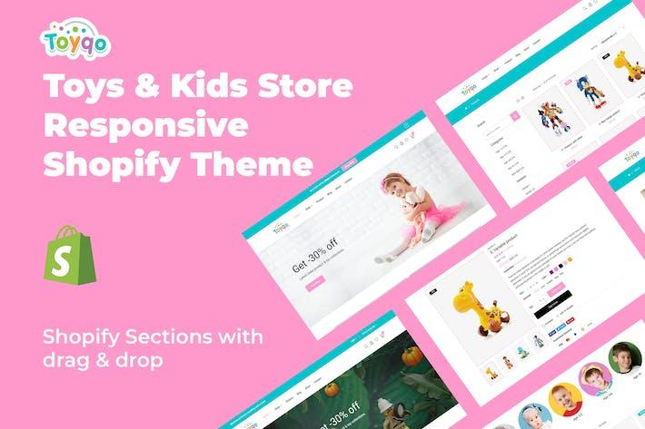 Toyqo - Магазин игрушек и детей Отзывчивая тема Shopify