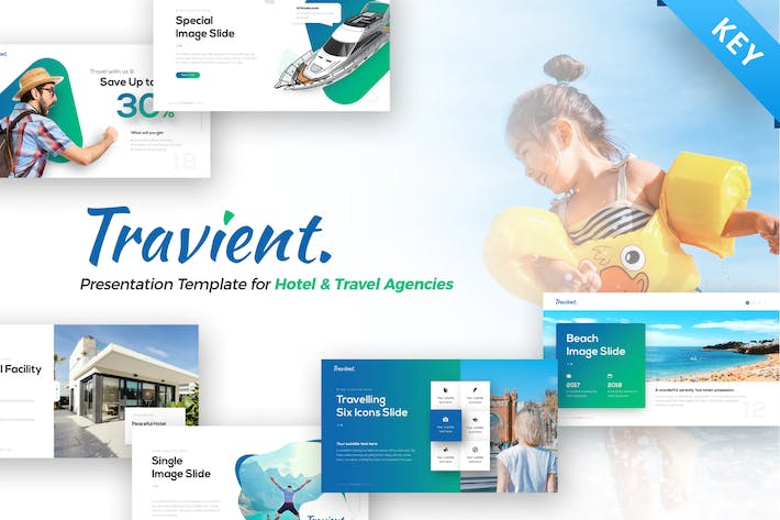 Thumbnail for Travient Hotel & Travel Agency Keynote Template