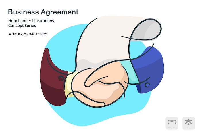 Thumbnail for Business Agreement Vector Illustration