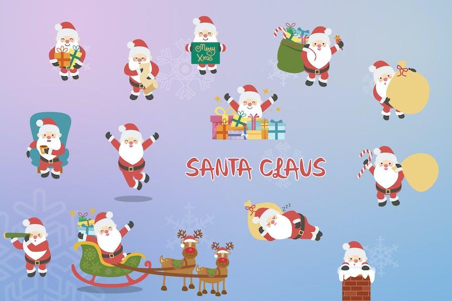 Santa Hand Drawn