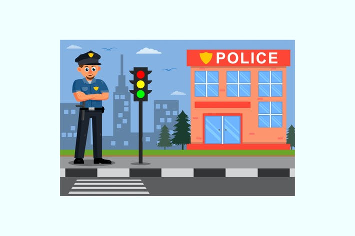 Thumbnail for Policeman Vector Illustration