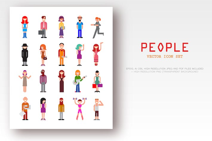 Thumbnail for People Vector Icon Set