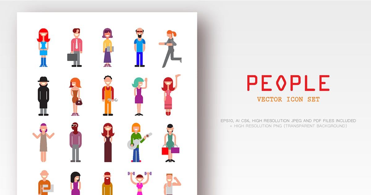 Download People Vector Icon Set by danjazzia