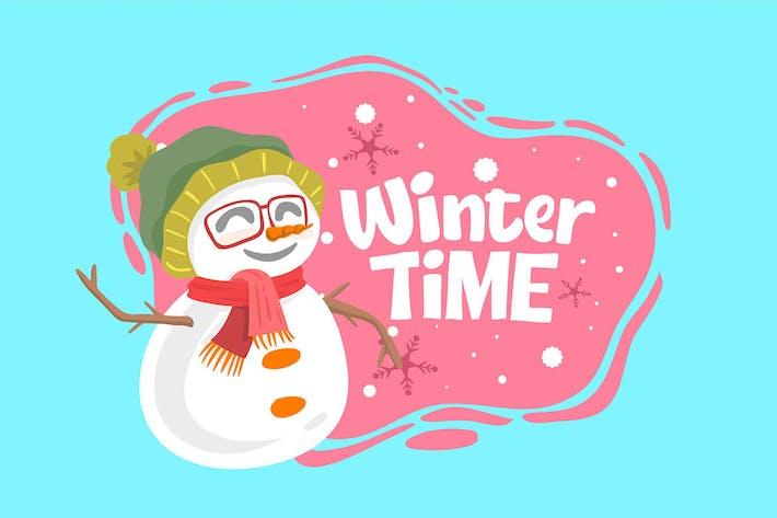 Winterzeit Schneeball