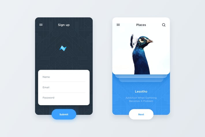 Thumbnail for Mobile App Template - Signup/Cards