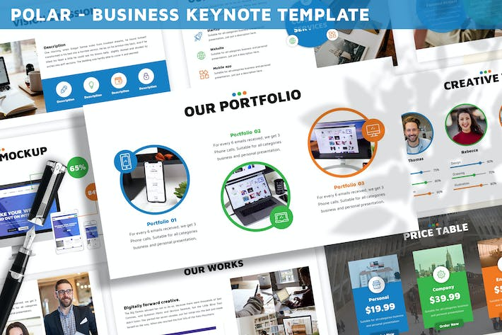 Thumbnail for Polar - Business Keynote Template