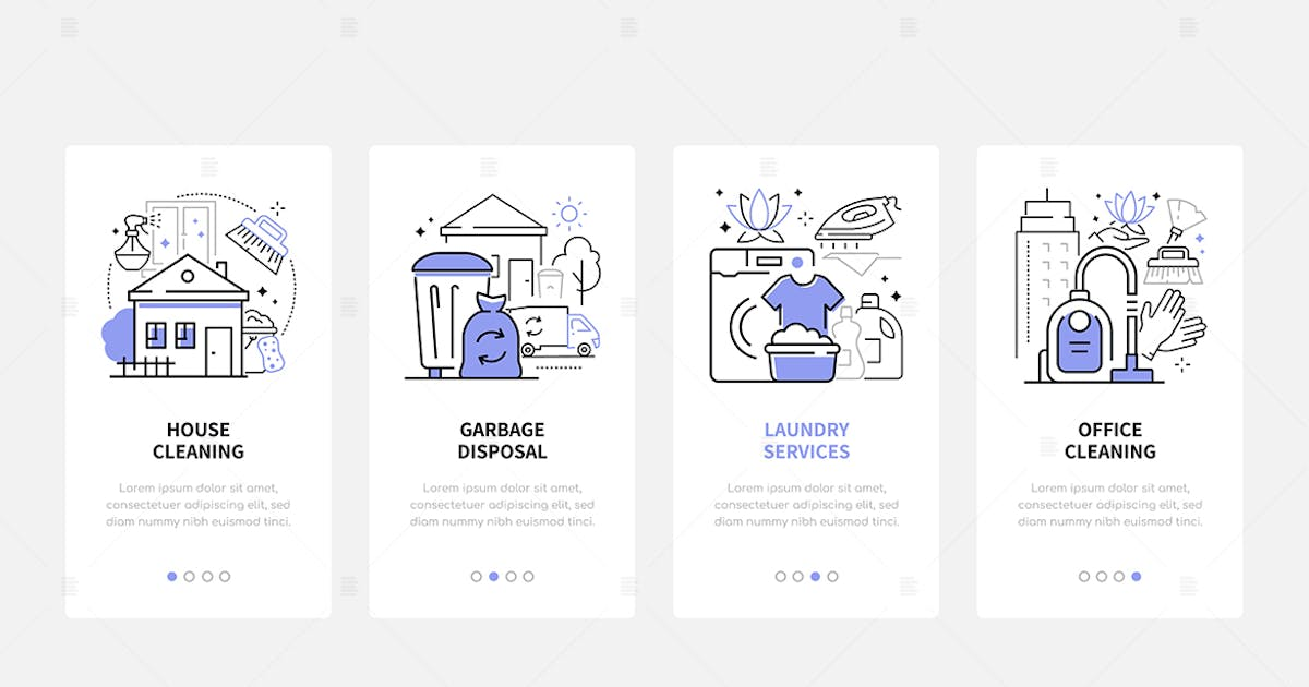 Download Cleaning Services - Modern Line Design Style Icons by BoykoPictures