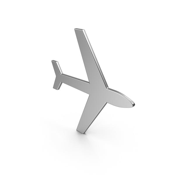 Cover Image for Airplane Symbol Silver