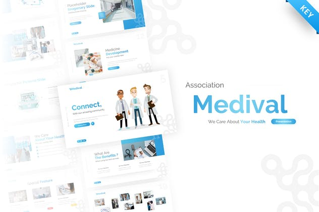 Medival Health Presentation Keynote Template - product preview 0