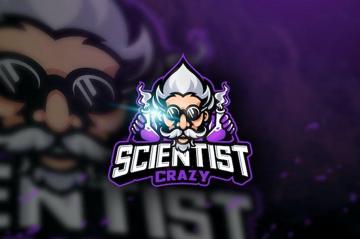 Thumbnail for Scientist Crazy - Mascot & Esport Logo