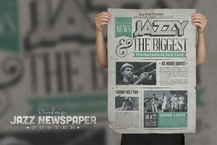 Thumbnail for Jazz - Vintage Newspaper Poster/Flyer