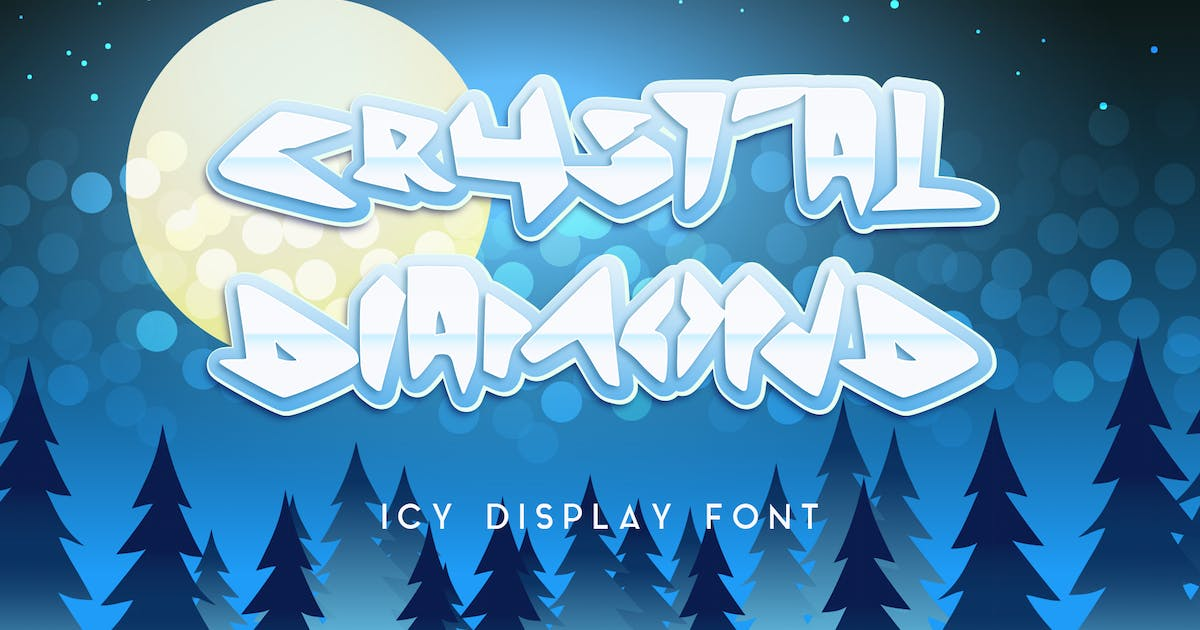 Download Crystal Diamond Icy Display Font by ovozdigital