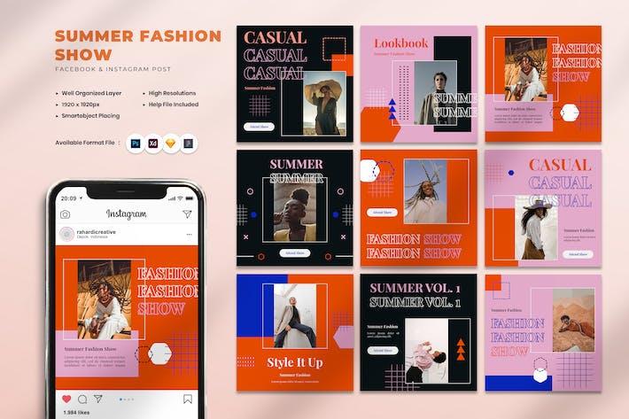 Summer Fashion Show Instagram Post