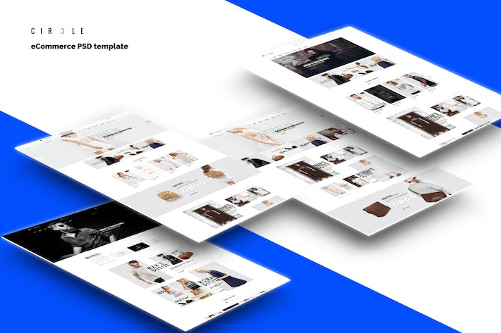 Thumbnail for CIRCLE - eCommerce PSD template
