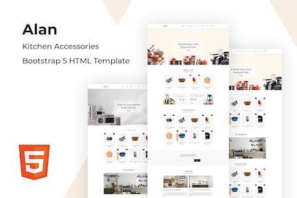 Alan - Kitchen Accessories Bootstrap 5 HTML Templa