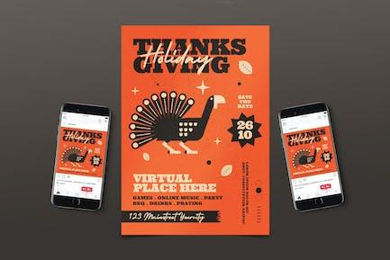 Pack de dépliant de Thanksgiving