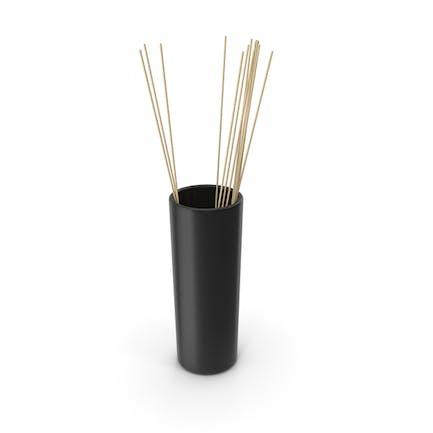 Decorative Tube Vase Black