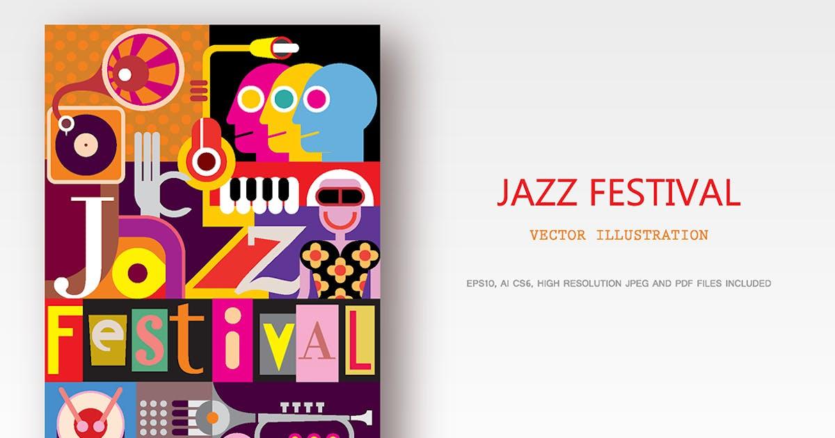 Download Jazz Festival Poster Design, vector illustration by danjazzia