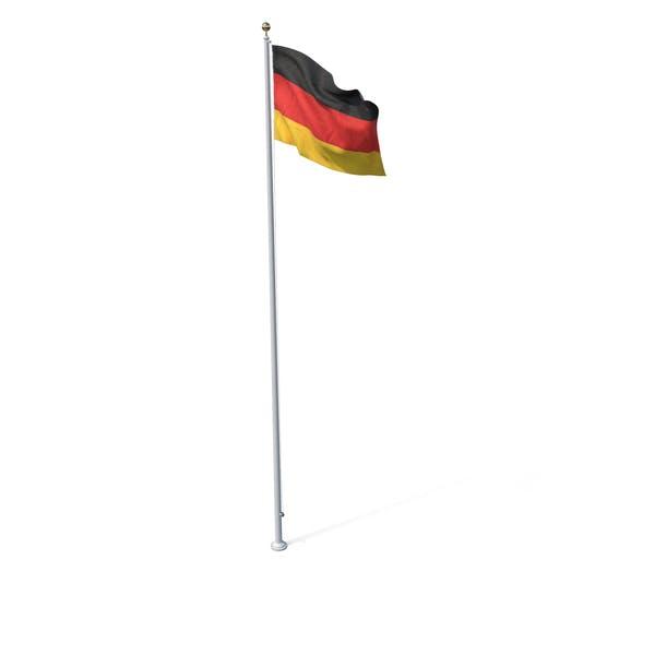 Fahne auf Pole Deutschland