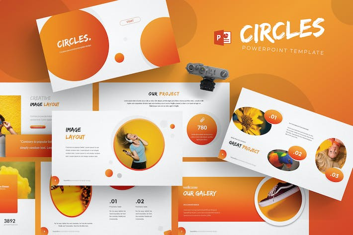 Thumbnail for Circles - Powerpoint Template
