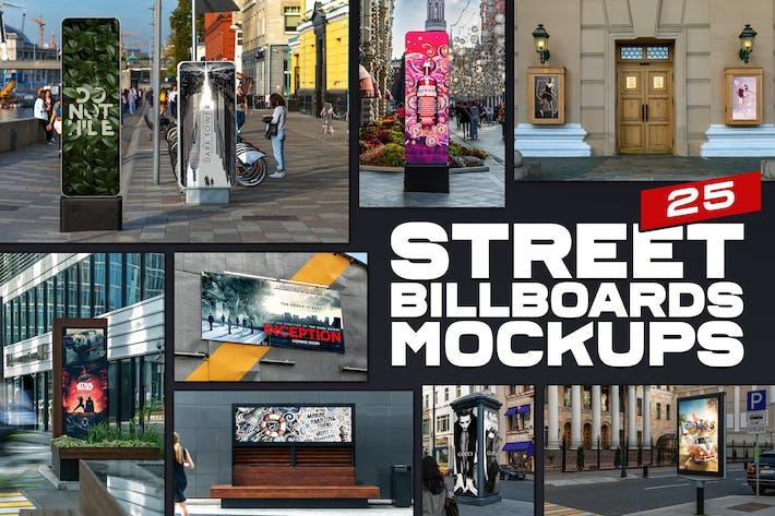 Thumbnail for Street Billboards Mockups
