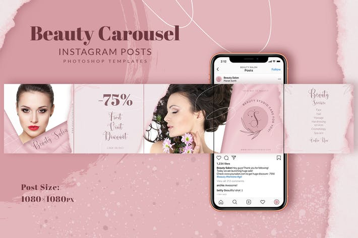 Thumbnail for Beauty Instagram Carousel Posts