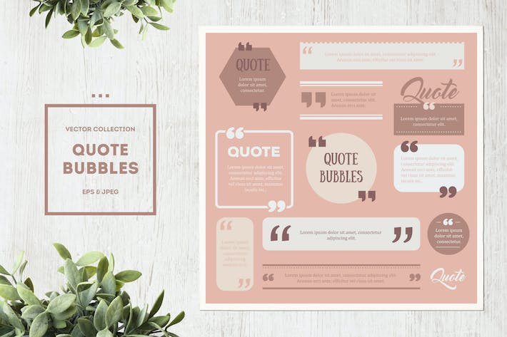 Thumbnail for Quote Box Vector Set