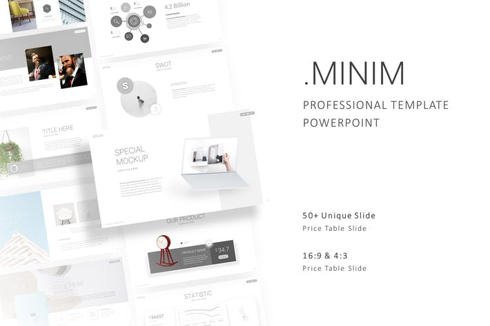 Thumbnail for Minim - Professional Powerpoint Template