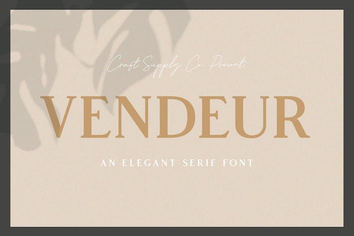 Cover Image For Vendeur - Elegant Serif Font
