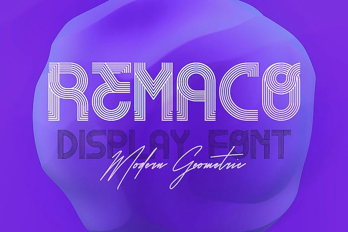 Thumbnail for Remaco - Display Font