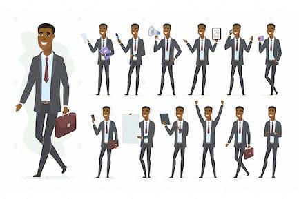 Afrikanischer Geschäftsmann - Vektor illustration