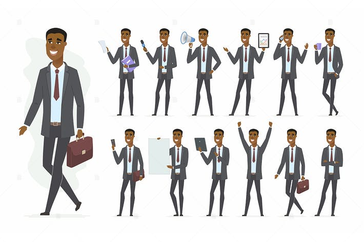 Thumbnail for African businessman - vector illustration