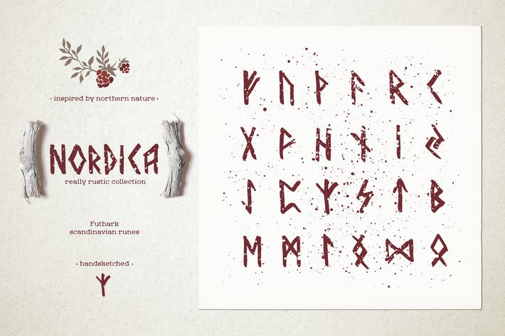 Thumbnail for Nordica // Futhark Scandinavian runes