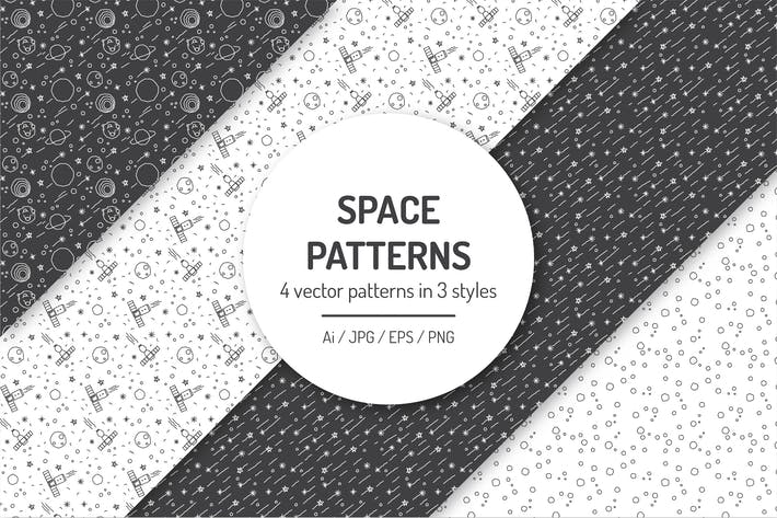 Thumbnail for Seamless Space Patterns