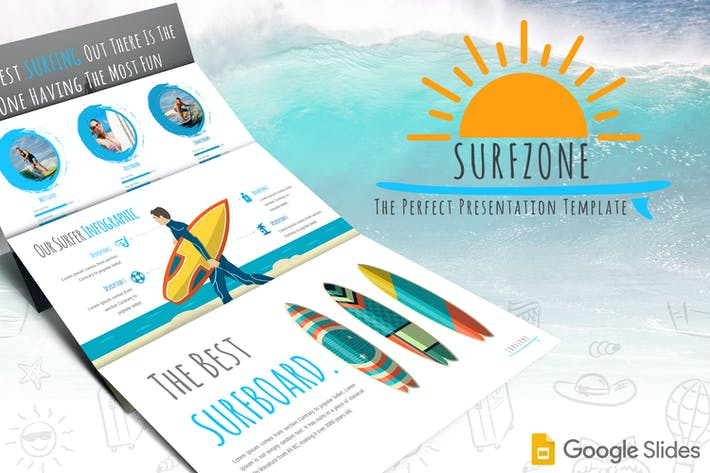 Thumbnail for Surfzone - Google Slides Template