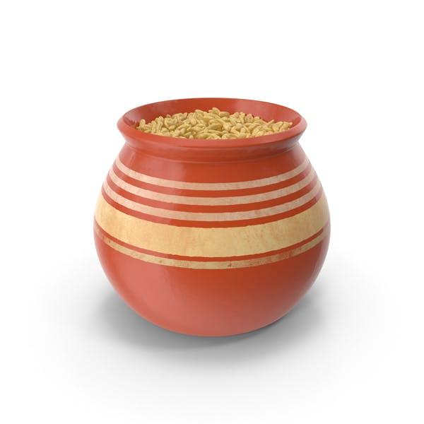 Keramiktopf mit Hafer