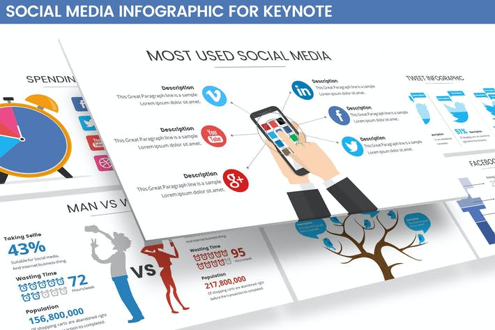 Thumbnail for Social Media Infographic Keynote