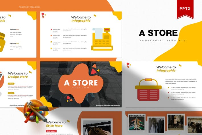 Thumbnail for A Store | Powerpoint Template