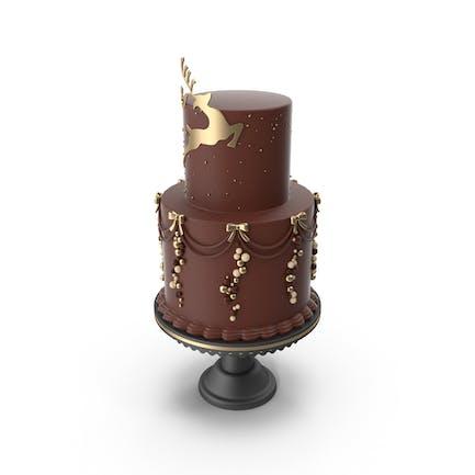 Rustic Elegant Christmas Cake