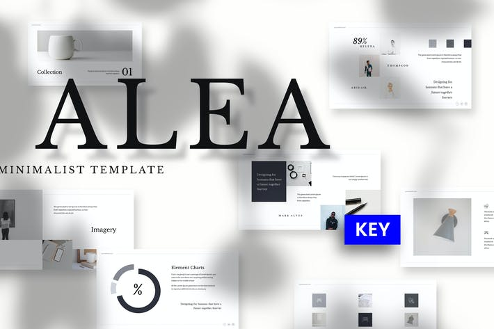 Thumbnail for Alea - Minimalist Keynote Template