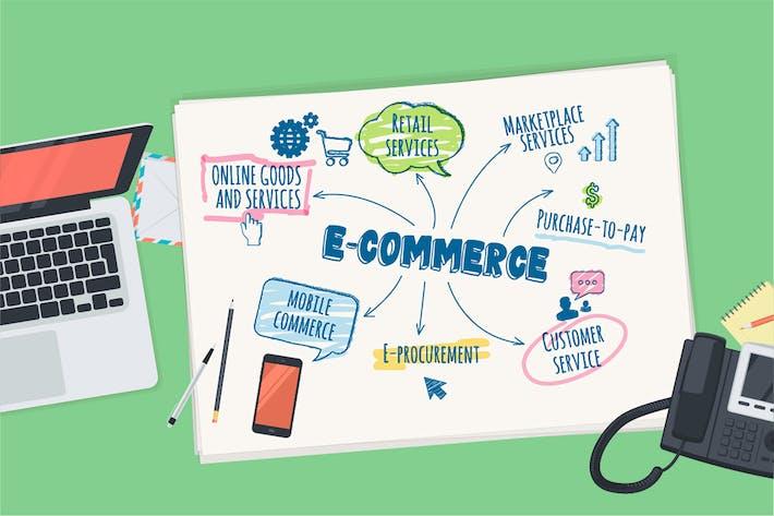 Thumbnail for Flat Design Concept for E-commerce