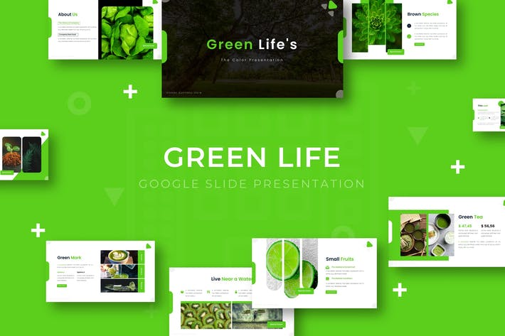 Thumbnail for Green Life - Google Slide Template
