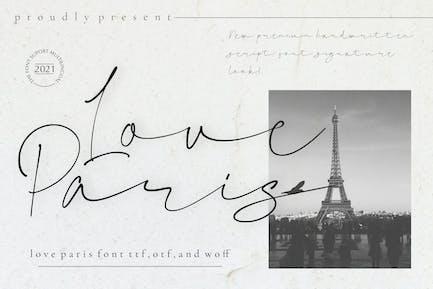 Love Paris - Signature Font