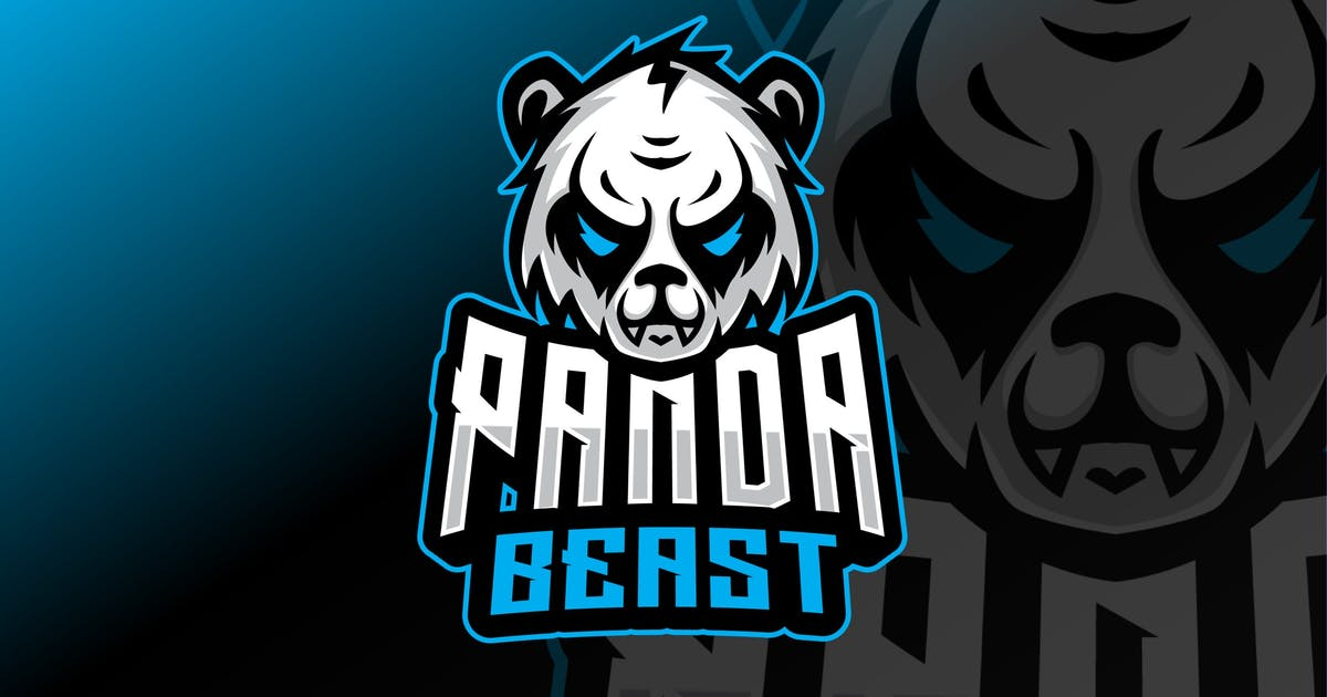Download Panda Sport and Esport Logo Template by queentype
