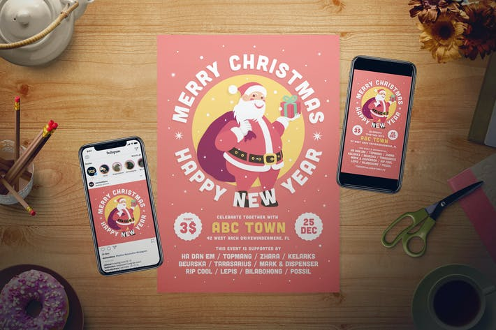 Christmas Flyer Set