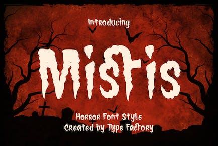 Mistis - Horror Font Style